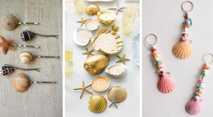 11 spunti super-creativi per realizzare fantastiche decorazioni con le conchiglie
