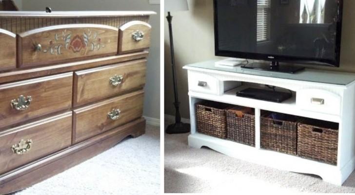 Come trasformare una vecchia cassettiera in un fantastico mobile per la TV in pochi, semplici passi