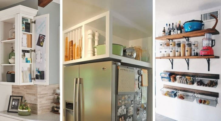 10 brillanti soluzioni per aggiungere mensole e mobili su misura e ricavare spazio extra in cucina