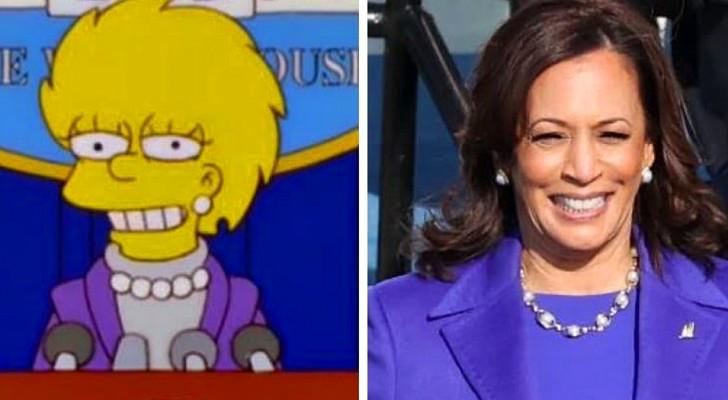 Il potere profetico dei Simpson: nel 2000 Lisa diventò Presidente USA vestita come Kamala Harris