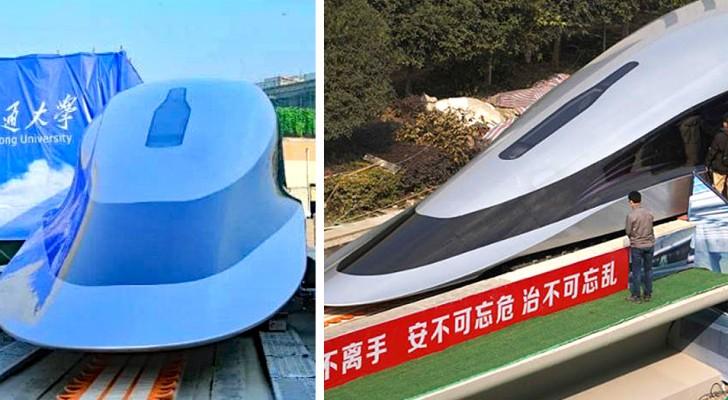 Svelato in Cina il prototipo di treno più veloce al mondo: raggiunge i 620 km/h e si sposta con un dito