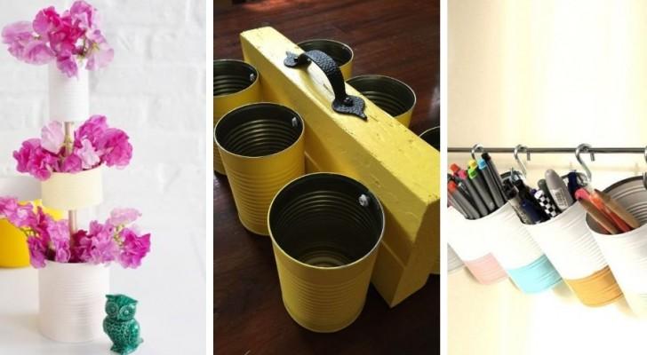 11 spunti super-creativi per riciclare i barattoli di latta e trasformarli in accessori incantevoli