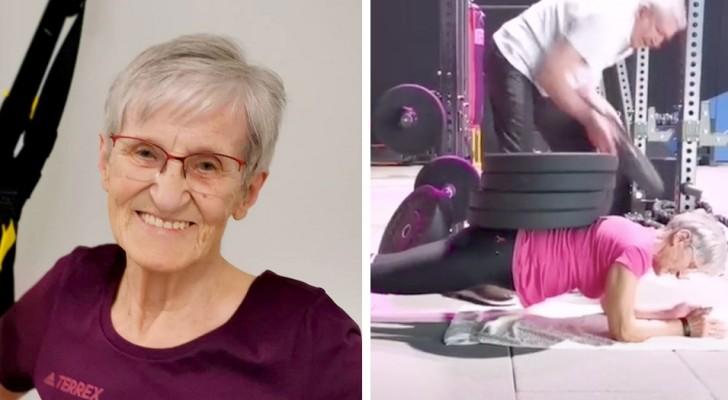 Aos 81 anos ela faz ginástica todos os dias: seus vídeos comprovam que nunca é tarde para entrar em forma