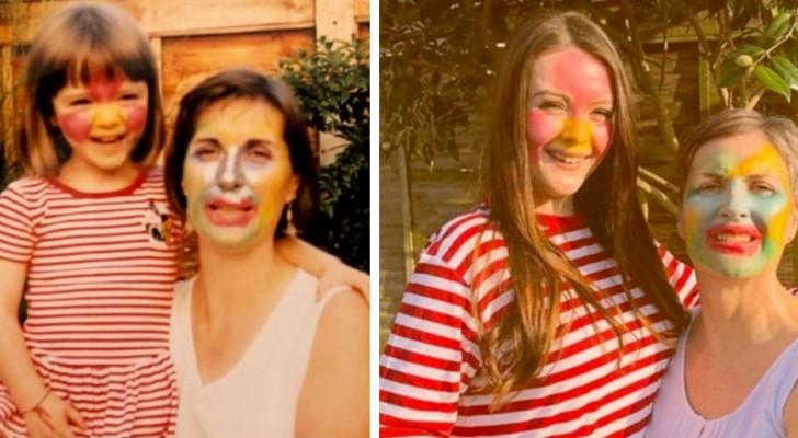 15 Menschen, die ihre Kindheit feiern wollten, indem sie alte Familienfotos nachstellten