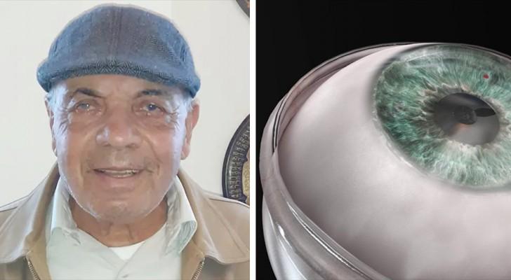 's Werelds eerste kunstmatige hoornvliestransplantatie: een 78-jarige blinde man krijgt zijn gezichtsvermogen terug