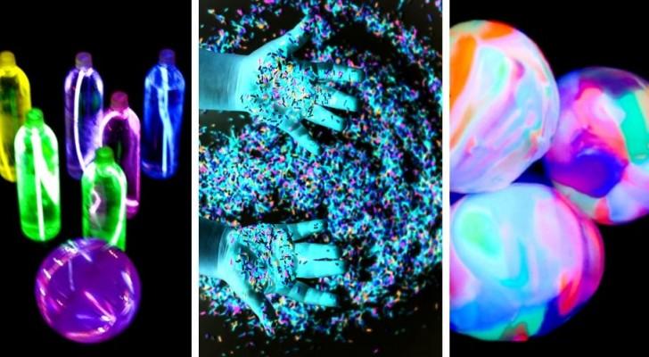 7 trovate di grande effetto per realizzare incantevoli lavoretti con le vernici fluorescenti