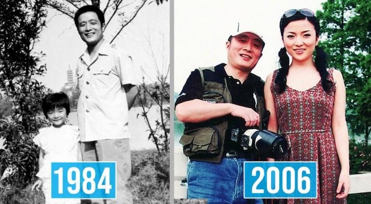 Un homme documente la croissance de sa fille en prenant la même photo au même endroit pendant 40 ans