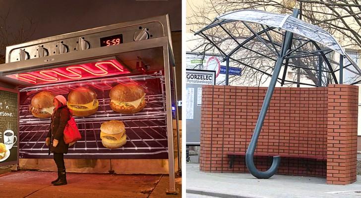 16 hållplatser så kreativa och originella att du nästan hoppas på att bussen inte kommer
