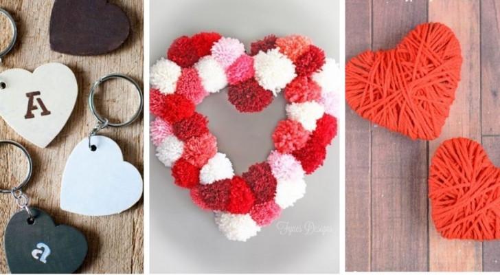 9 adorabili lavoretti a forma di cuore per celebrare San Valentino con creatività