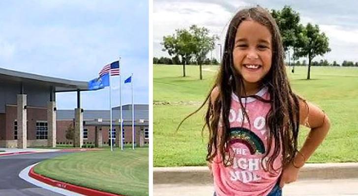 Den här 8-åriga flickan blev avstängd från skolan för hon är