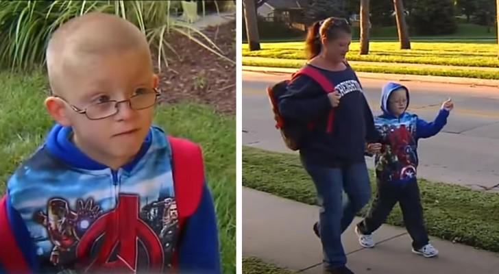 Mutter und Sohn gehen jeden Tag eineinhalb Stunden zu Fuß zur Schule: Eine Nachbarin bietet ihnen immer an, sie mitzunehmen