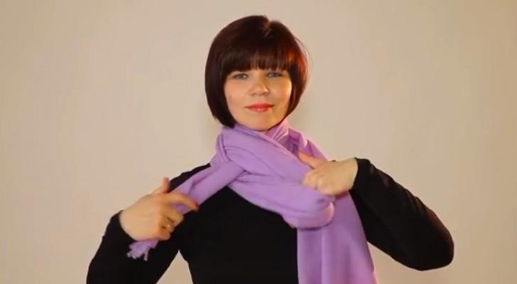 Este vídeo mostra 20 maneiras diferentes de usar um lenço. Escolha o seu!