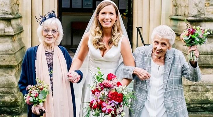 Ni är de mest viktiga människorna i mitt liv Hon ber sin mormor och farmor följa henne till altaret som brudtärnor