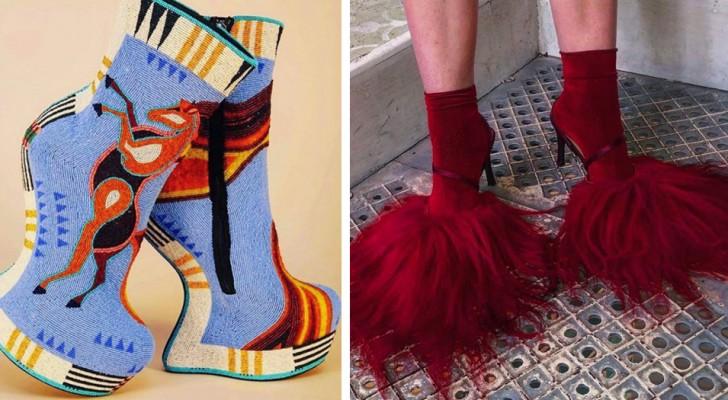 18 paar schoenen die zo bizar zijn dat alleen de meest moedige mensen ze kunnen dragen