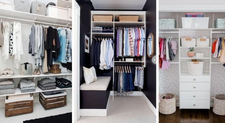 9 idées super pratiques pour installer une garde robe même dans les plus petits espaces