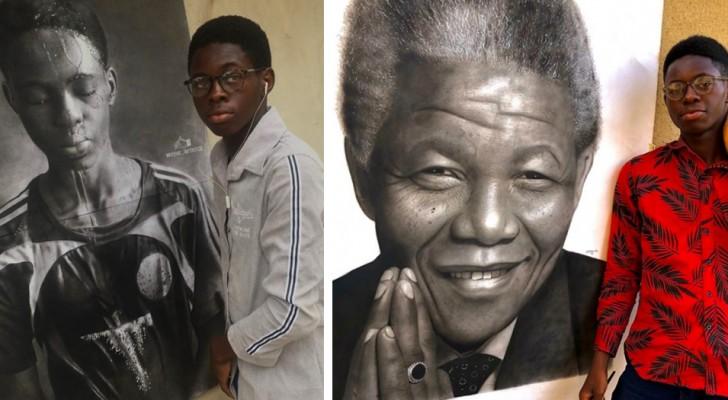 Questo ragazzo di 17 anni è un vero prodigio del disegno iperrealistico: le sue opere sembrano delle fotografie