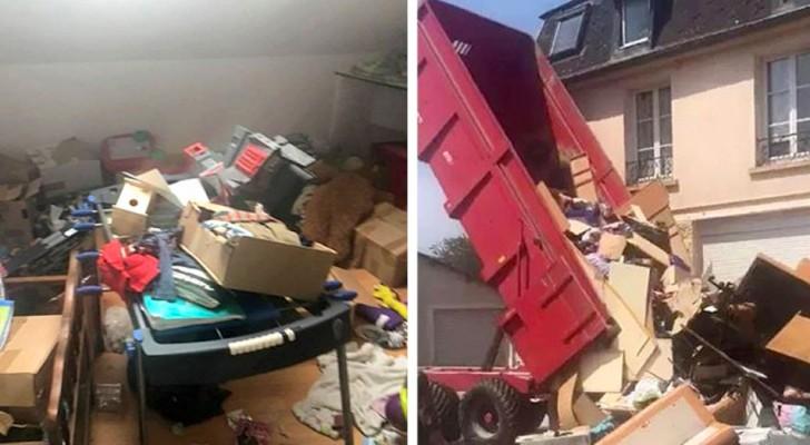 Gli inquilini se ne vanno e lasciano la casa piena di rifiuti: il proprietario li scarica davanti alla loro nuova abitazione