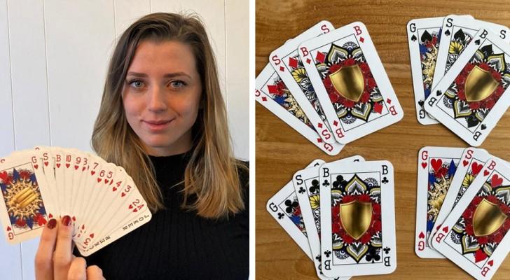 Une jeune femme de 23 ans détrône le roi et crée un jeu de cartes sans distinction de sexe