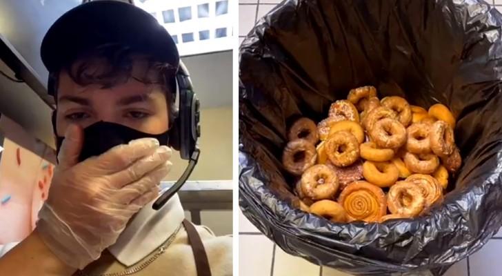 Hij kan het niet uitstaan om elke avond onverkocht voedsel weg te gooien, dus geeft hij het aan de daklozen: het bedrijf ontslaat hem