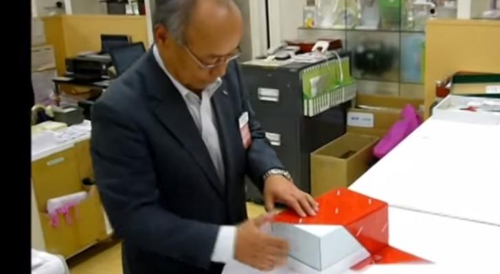 Voilà comme on prépare les paquets cadeau au Japon. Vraiment pas mal du tout!