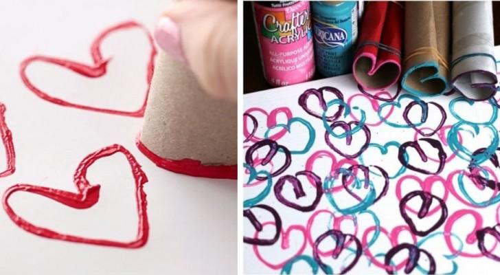 San Valentino: la tecnica facilissima per creare decorazioni a forma di cuore riciclando tubi di cartone
