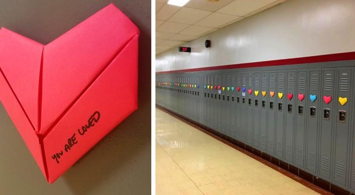 Studente anonimo sorprende tutta la scuola con 1500 bigliettini di San Valentino realizzati a mano