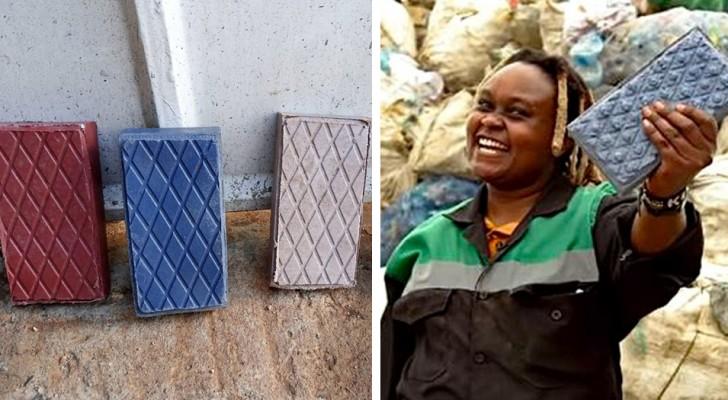 Diese Frau hat ein Startup gegründet, das Plastikmüll in Ziegelsteine verwandelt, die stärker als Beton sind