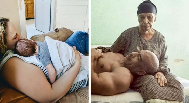Moederskindjes: 17 foto's die alle tederheid van de moeder jegens haar zoon vieren