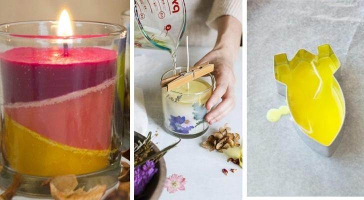 4 metodi fai-da-te facili e divertenti per creare velocemente delle bellissime candele colorate