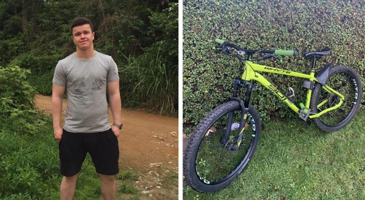 Il achète un vélo volé et le rend à son propriétaire : il est récompensé pour son noble geste