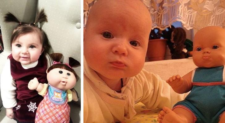 16 parents nous montrent l'incroyable ressemblance entre leurs enfants et leurs poupées : les photos sont plus mignonnes les unes que les autres