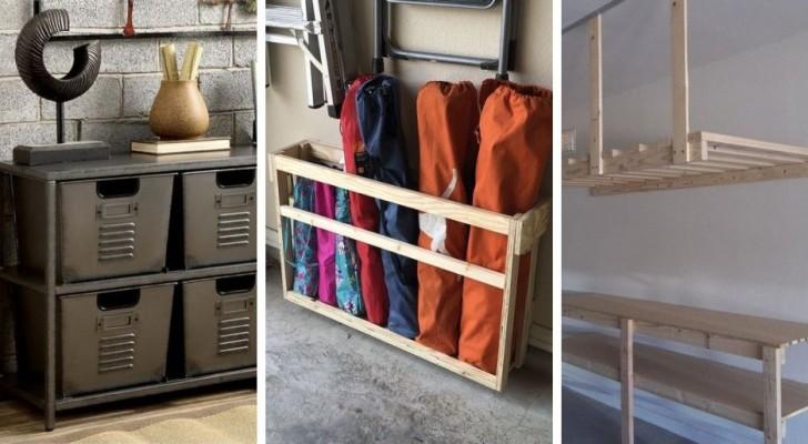 Fare ordine in garage: 8 robuste scaffalature fai-da-te perfette per trasformare i vostri ambienti