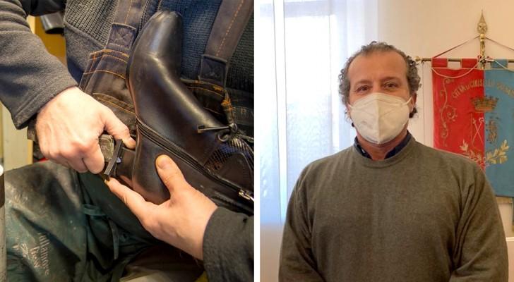 Sei in difficoltà? Mi paghi quando puoi: l'iniziativa generosa di un calzolaio per aiutare i suoi concittadini