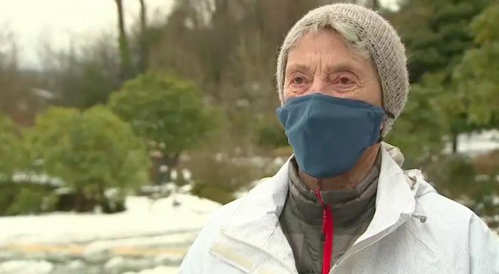 Op 90-jarige leeftijd loopt ze 10 km in de sneeuw om het Covid-vaccin te krijgen: Ik kon niet wachten om het te krijgen!