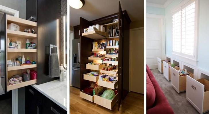 Risparmia spazio con 13 trovate super-ingegnose per per rendere la casa più confortevole e ordinata
