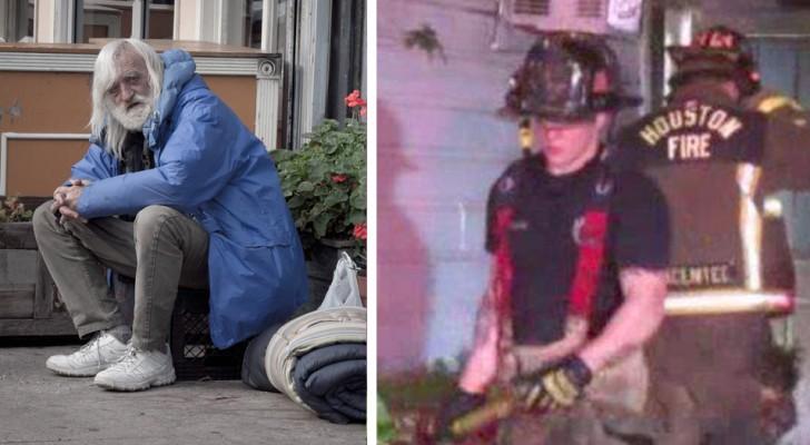 Um morador de rua salva avó e netas das chamas, retribuindo sua gentileza: elas o haviam hospedado em sua casa