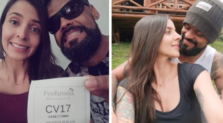 Le mari se soumet à une opération de stérilisation et le couple partage sa joie sur les réseaux sociaux :