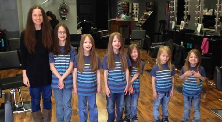 6 hermanos acosados por años a causa de sus cabellos largos: los habían hecho crecer para donarlos en beneficencia
