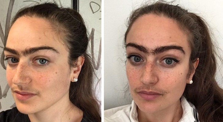 This woman refuses to shave her mustache and pluck her eyebrows for every date and gets showered with insults