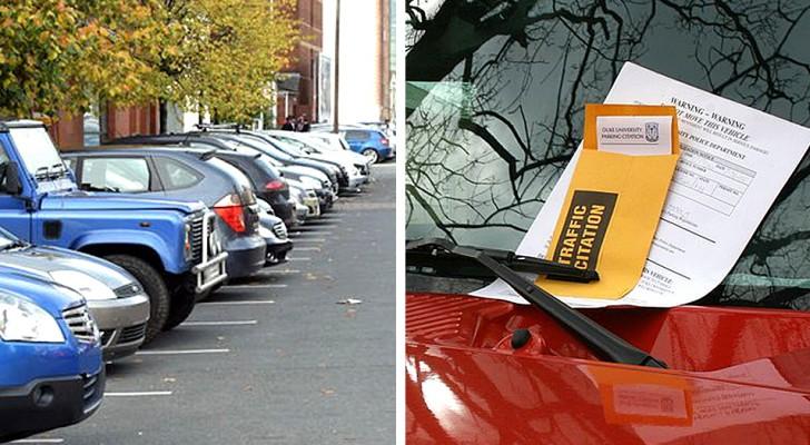 En bil upptar den parkeringsplats som är reserverad för honom i flera dagar: han hittar ett sätt som får ägaren till bilen att betala 18 dagsböter