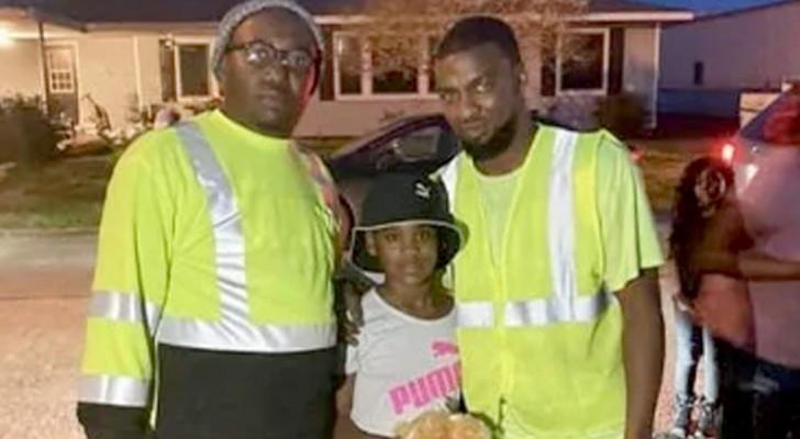 Straatvegers stoppen een verdachte auto en redden bij toeval een 10-jarig meisje dat is ontvoerd door een onbekende