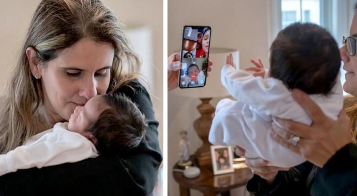 Profesora cuida al hermanito recién nacido de un alumno suyo: en casa del joven, todos tienen Covid-19