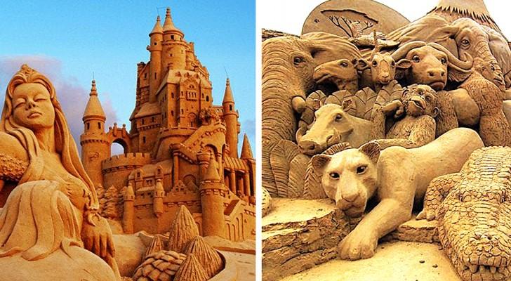 Dimenticate i soliti castelli: queste 23 spettacolari sculture di sabbia sono delle vere opere d'arte