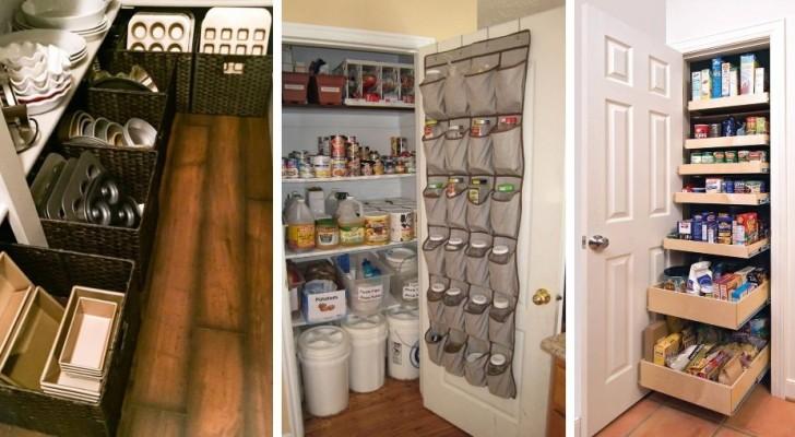 Risparmiate spazio in cucina con 12 idee ingegnose per fare ordine nei mobili e sugli scaffali