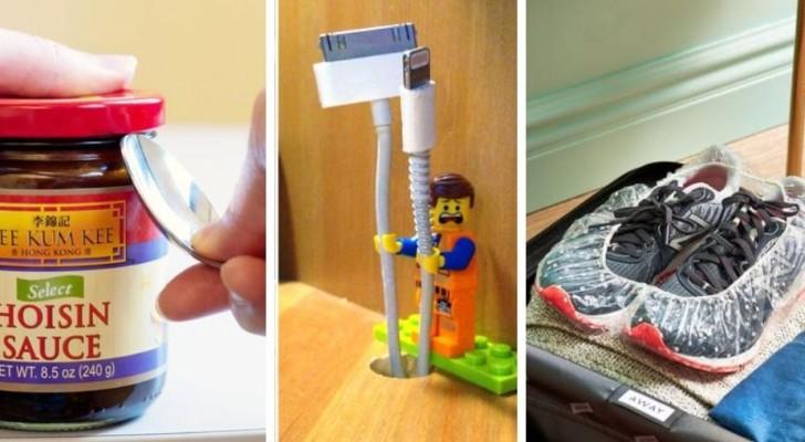 10 trucchi pratici e ingegnosi per utilizzare tanti oggetti comuni in modi alternativi