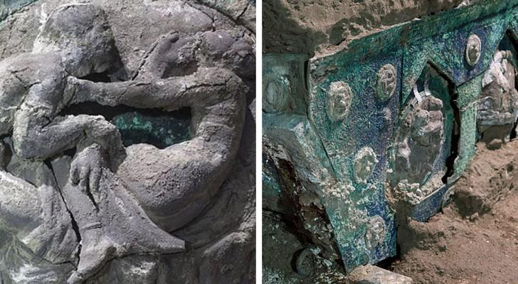 Découverte à Pompéi d'un char d'apparat unique et parfaitement conservé : il était sur le point d'être volé