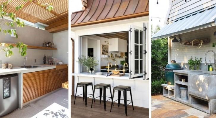 Cuisiner en plein air : 10 splendides propositions pour aménager des cuisines et des kitchenettes