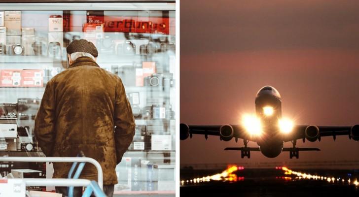 Abbandona il padre di 80 anni con l'Alzheimer su un aereo con un biglietto di sola andata