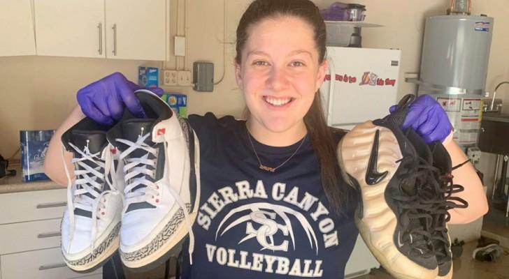A 13 anni raccoglie 30.000 paia di scarpe per donarle ai senzatetto della sua città