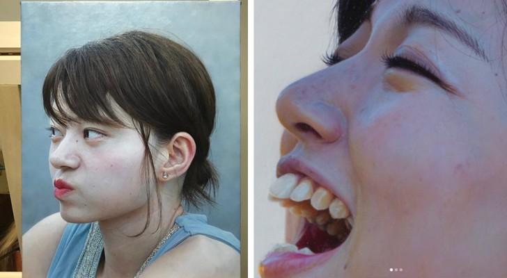 Un artista realizza dipinti ad olio con dettagli così precisi e realistici che sembrano delle fotografie